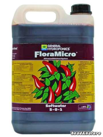 GHE - FloraMicro Soft-Water 5 litres