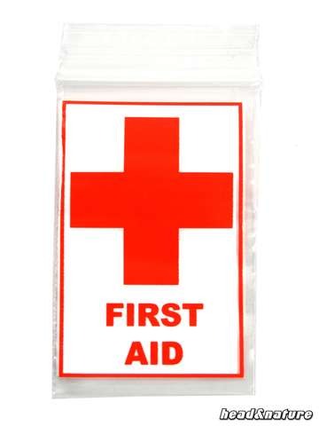 "Sachets Zip ""First Aid"" 40 x 60mm 100 pcs."