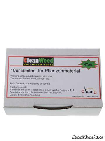 CleanWeed test de plomb 10x