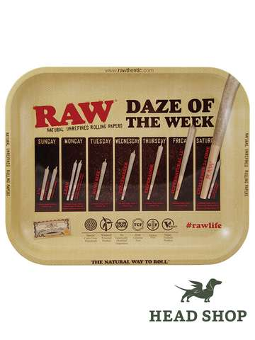 RAW Rolling Tray Plateau à rouler Daze of the Week